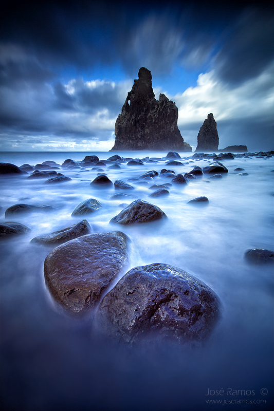 Long exposure waterscape photography in Ribeira da Janela, located in the Madeira Island, made by landscape photographer José Ramos from Portugal