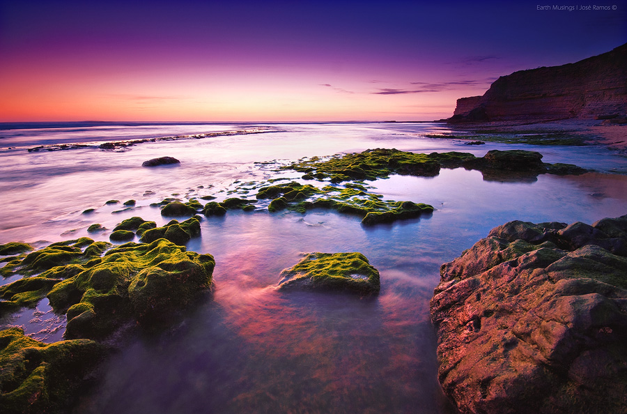 Long exposure waterscape photography in Praia de Ribeira D'Ilhas, located in Ericeira, made by landscape photographer José Ramos from Portugal