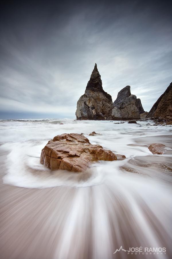 Landscape photo showing Ursa Beach in Sintra, Portugal, captured by landscape photographer José Ramos