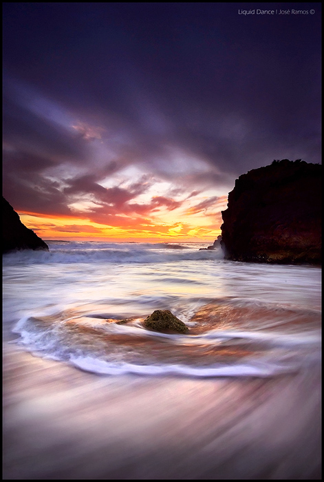 Long exposure waterscape photography in Três Irmãos beach, in the Algarve region, shot by landscape photographer José Ramos from Portugal