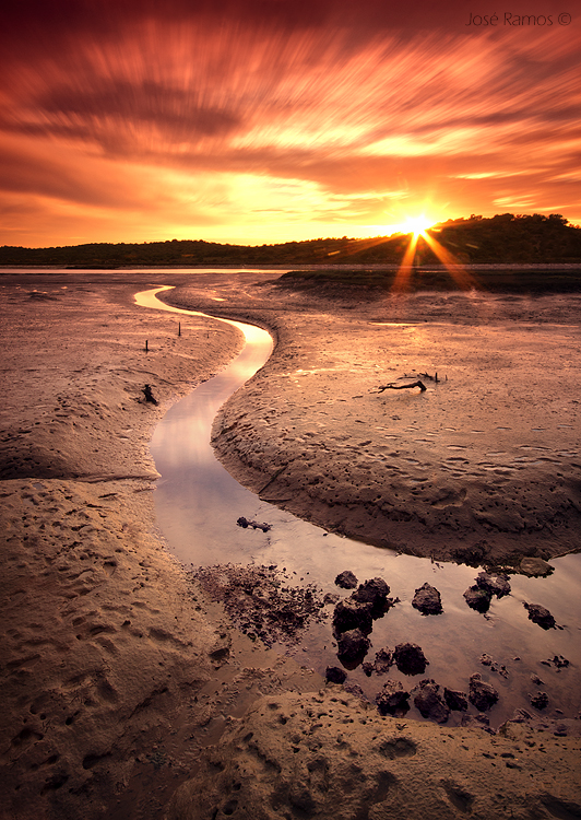 Long exposure waterscape photography in Arada River, near Portimão, located in the Algarve region, made by landscape photographer José Ramos from Portugal