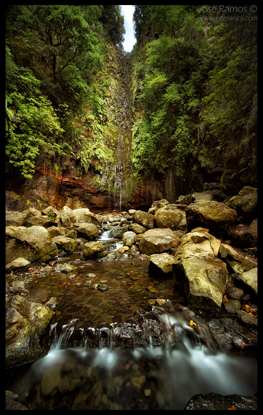 Landscape photography in Levada das 25 Fontes, in Rabaçal, located in the Madeira Island, made by landscape photographer José Ramos from Portugal
