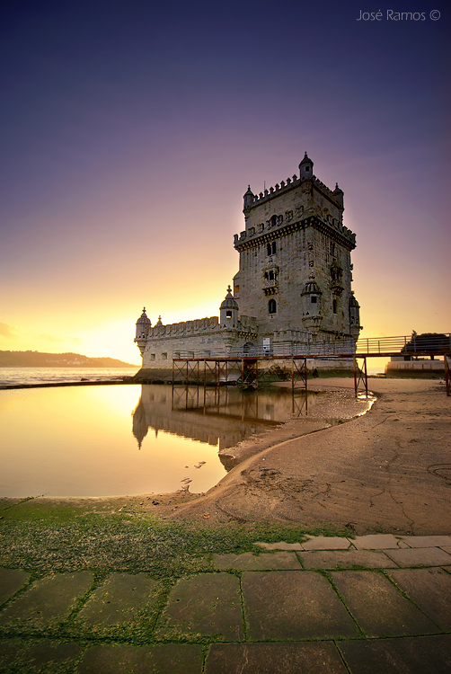 Architecture photography in Lisbon, depicting the Torre de Belém monument, shot by landscape photographer José Ramos from Portugal
