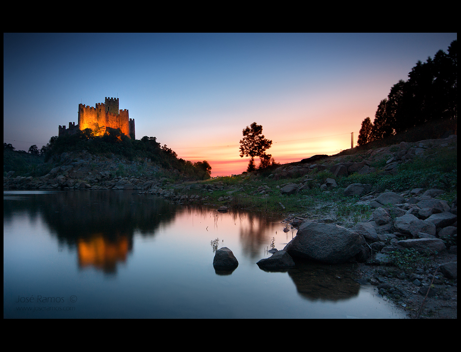Long exposure landscape photography in the Almourol Castle, shot by landscape photographer José Ramos from Portugal