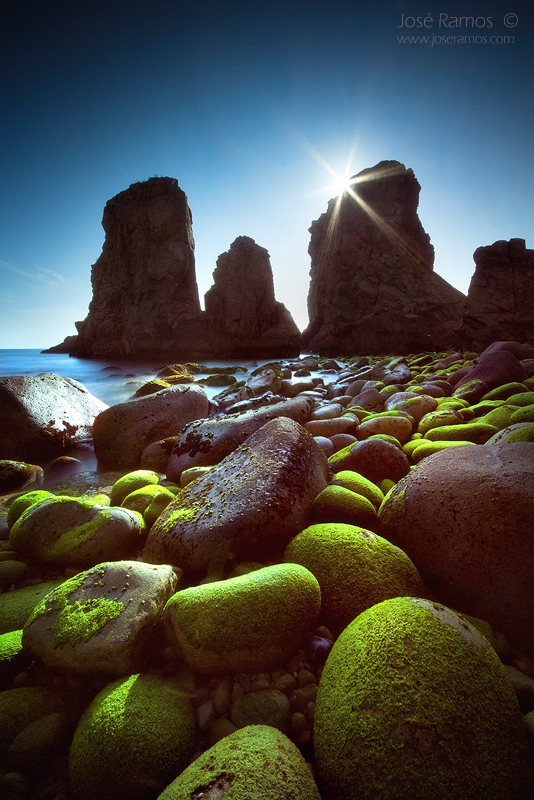 Long exposure waterscape photography in Malhada do Ouriçal, near Cabo da Roca, located in Sintra, shot by landscape photographer José Ramos from Portugal