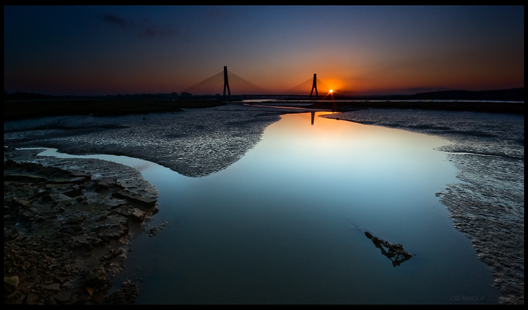Long exposure landscape photography in Arade river, near Portimão located in the Algarve region, shot by landscape photographer José Ramos from Portugal