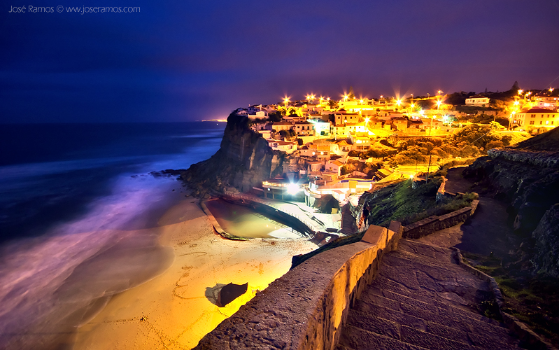 Long exposure landscape photography in the Azenhas do Mar, located in Sintra, shot by landscape photographer José Ramos from Portugal