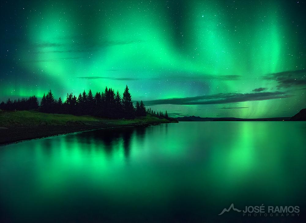 Northern Lights in Hveragerði, Iceland