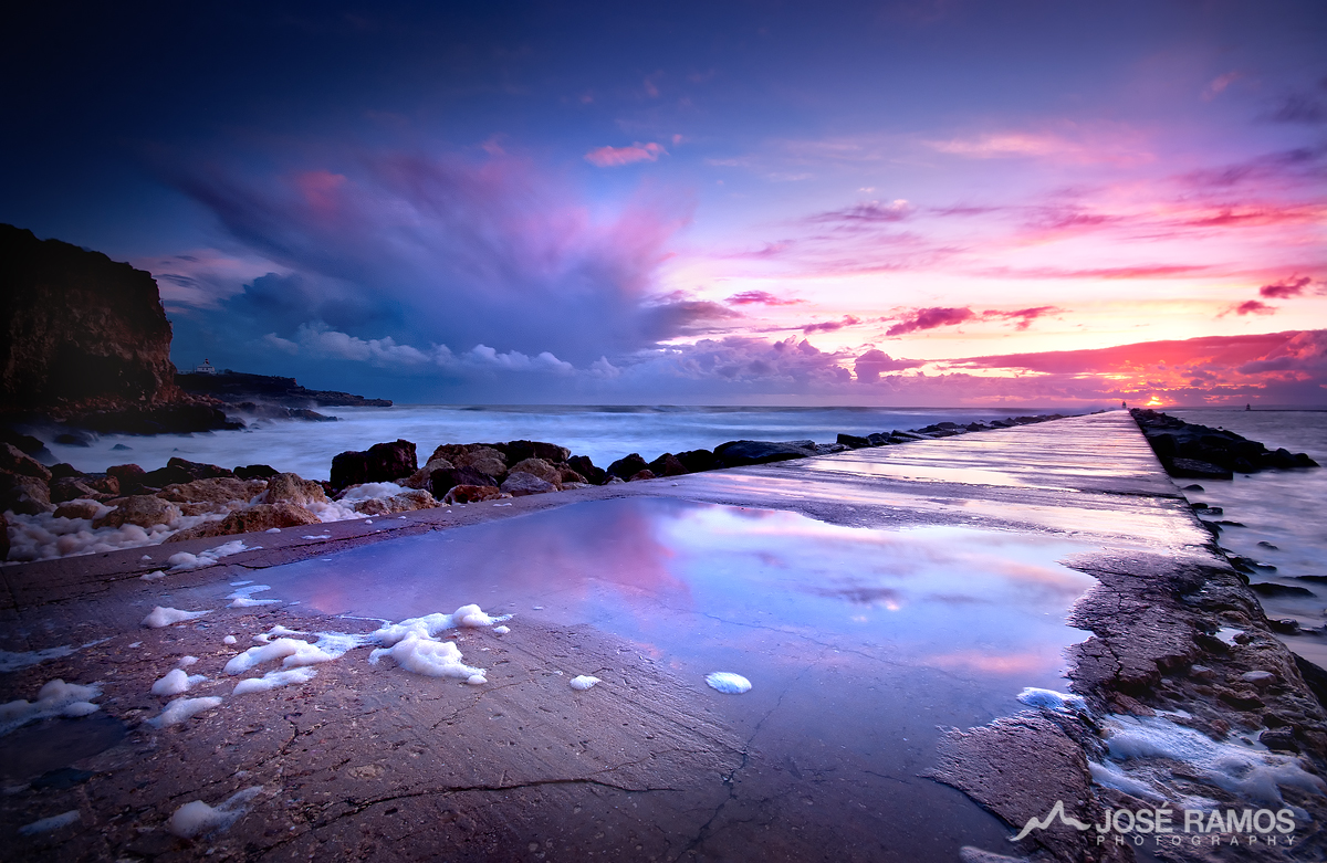 Long exposure waterscape photography in Ferragudo, located in the Algarve region, made by landscape photographer José Ramos from Portugal