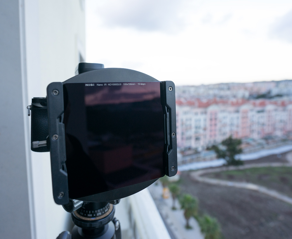 Laowa 12mm lens with the Nisi Holder and the 10 stops Nisi full ND filter correctly positioned