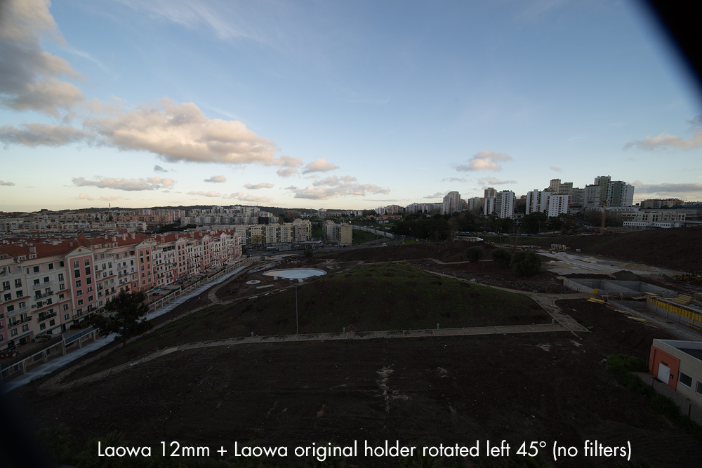 Laowa 12mm with Laowa Holder Rotated 45 degrees (no filters)