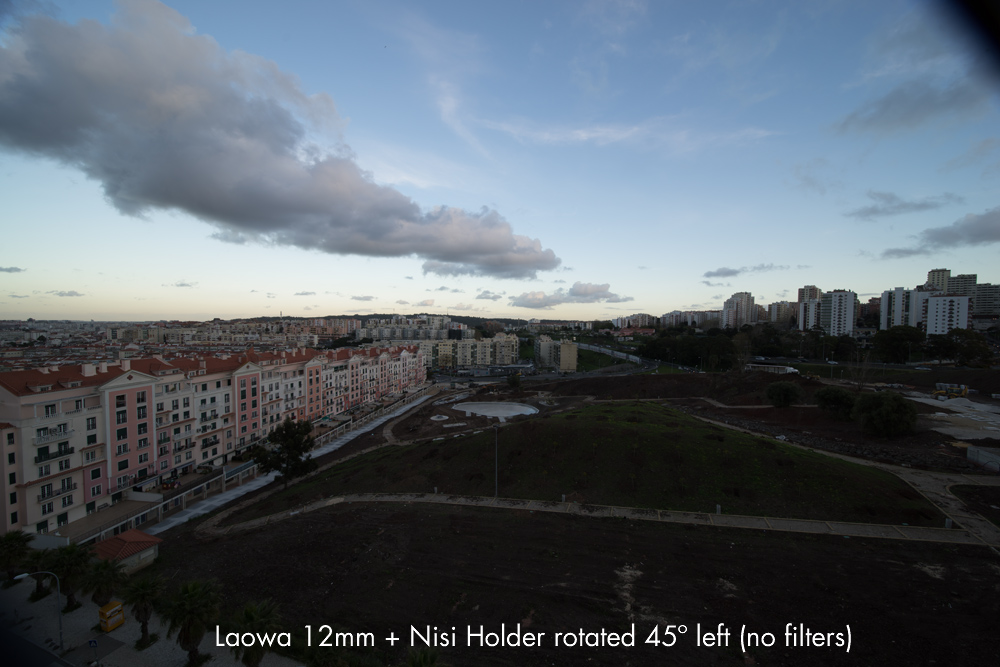 Laowa 12mm with Nisi Holder Rotated 45 degrees (no filters)
