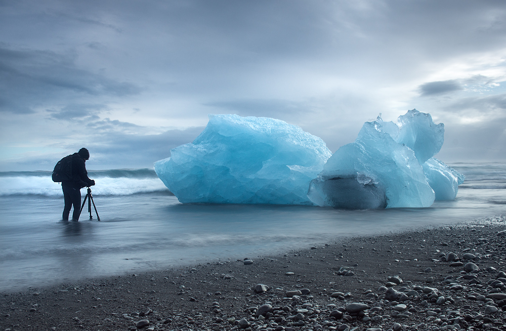 José Ramos landscape photographer from Portugal in Jokulsarlon Glacier Beach 2015