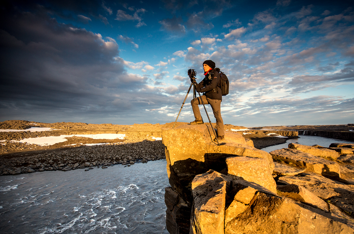 José Ramos landscape photographer from Portugal in Dettifoss Iceland 2016