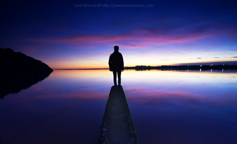 José Ramos landscape photographer from Portugal - Self Portrait -  Reflection in Alvor, Portugal