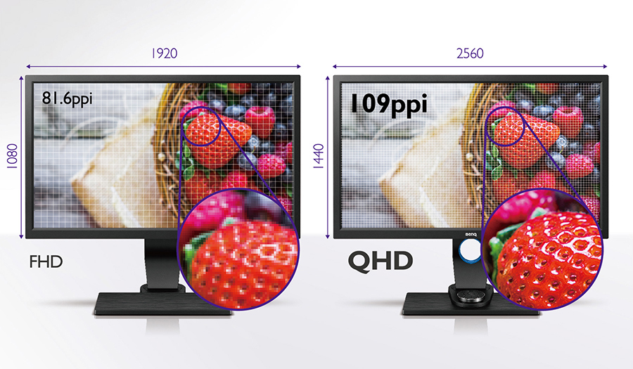 BenQ SW2700PT QHD Resolution
