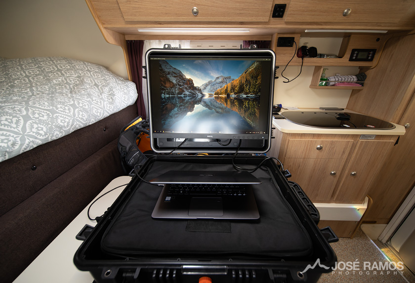 BenQ On The Go Rigid Case inside the Camper