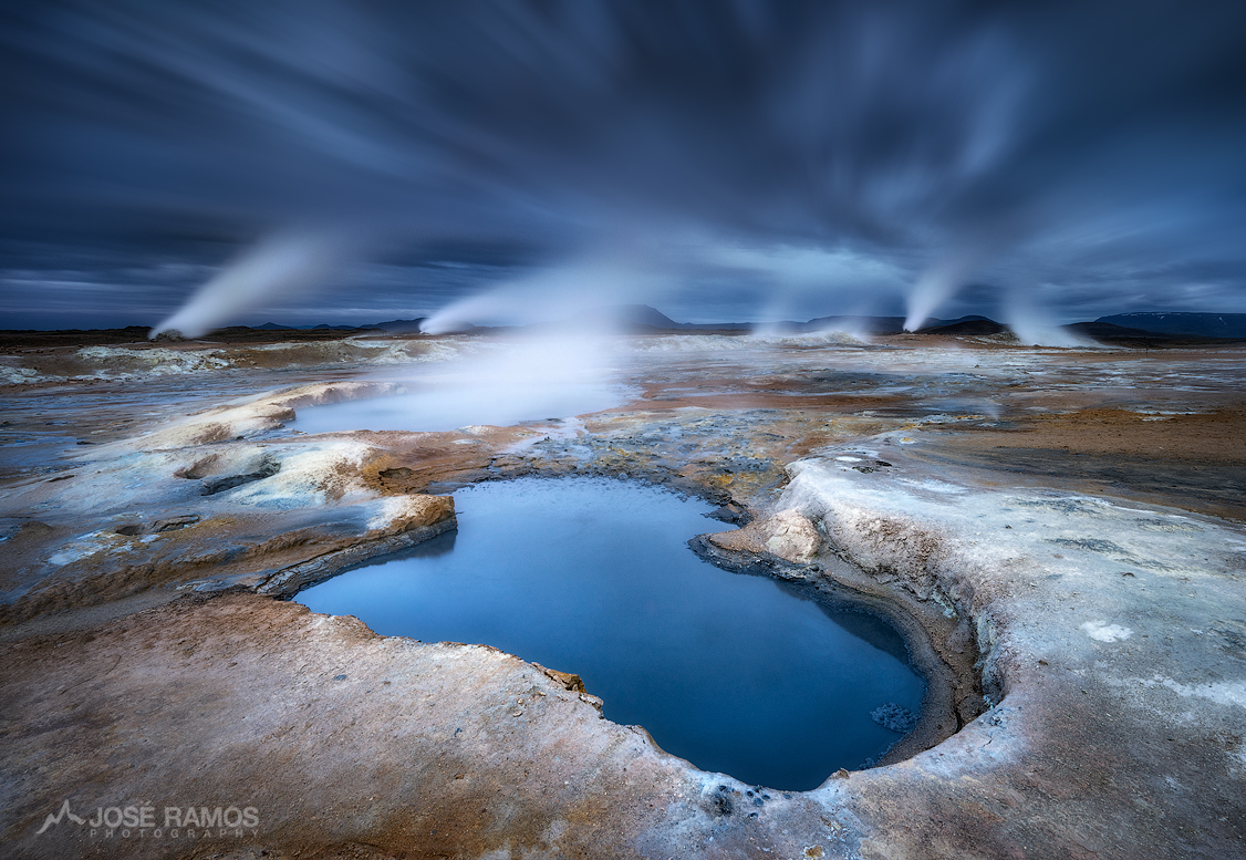Landscape photo showing the Hverir - Námafjall geothermal area in Iceland, shot by landscape photographer José Ramos
