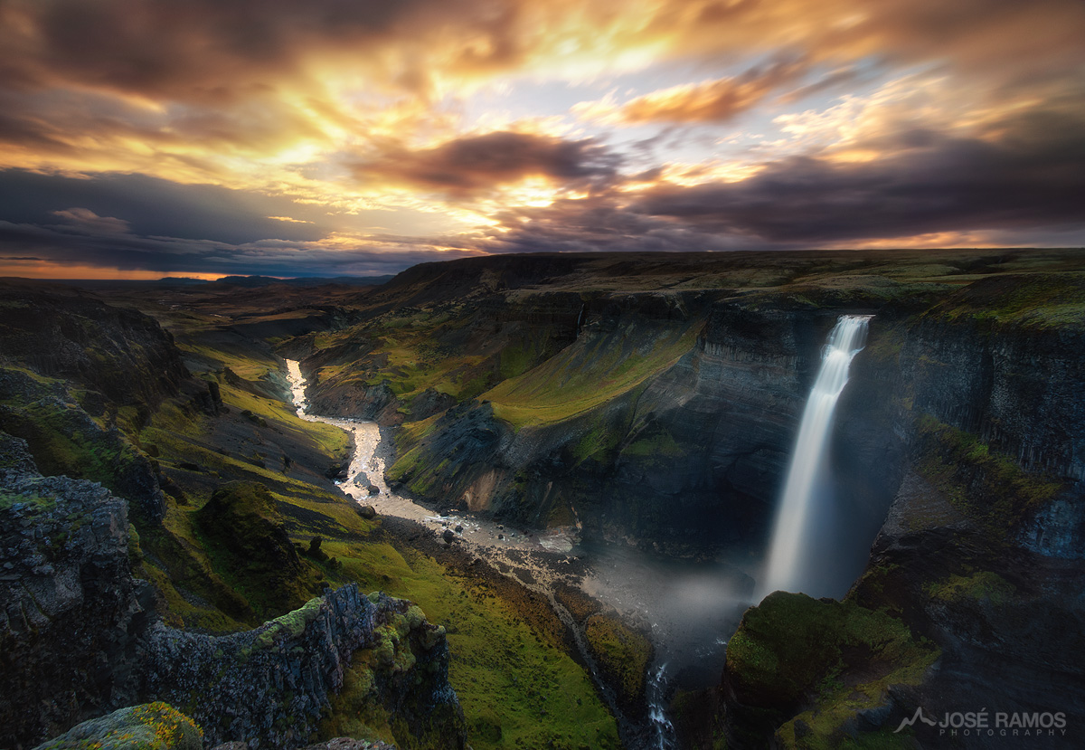 """Standing Among Giants"" - Haifoss Waterfall in Iceland"