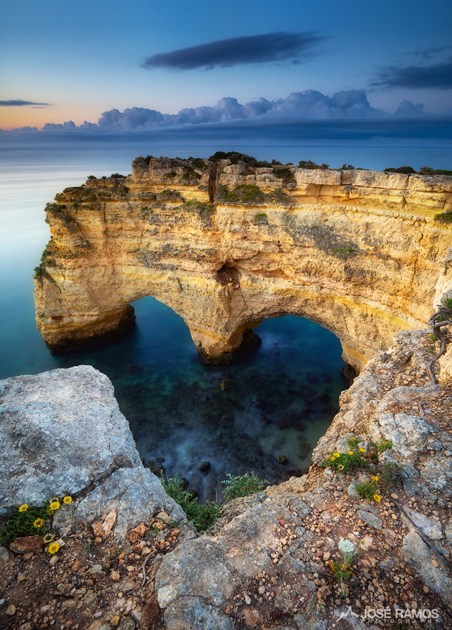 Hidden Heart shape in Praia da Marinha, Portugal
