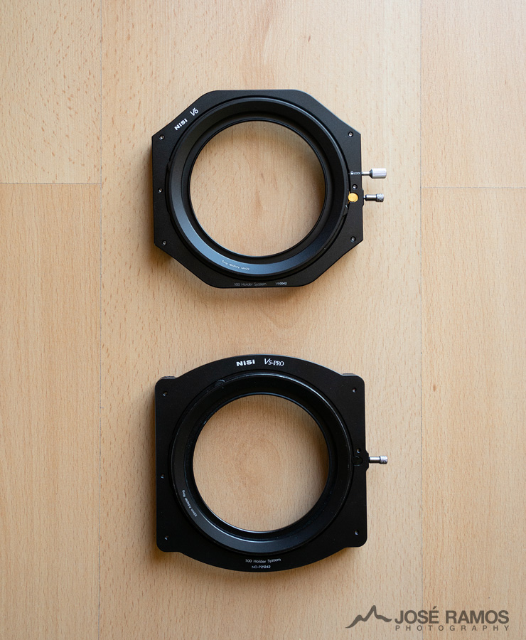Nisi V6 filter holder system compared with the Nisi V5 Pro